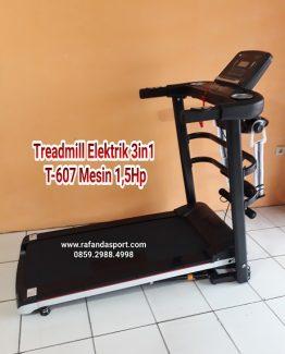 Treadmill Elektrik 3 Fungsi TL-607 Mesin 1,5Hp